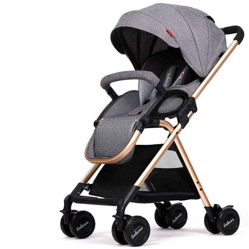 Lightweight Baby Stroller 5.9KG 4 Free Gifts Folding Carriage Pushchair Pram Newborn Infant Car 16 styles tianrui lightweight baby stroller 3 6kg 4 free gifts folding carriage buggy pushchair pram newborn infant car 8 styles