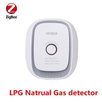 Promotion Heiman Zigbee Gas Alarm Detector Smart Natural gas,Coal gas,LPG combustible gas leakage sensor EU US Or UK for option