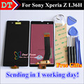 High Quality New LCD Display +Digitizer Touch Screen assembly For Sony Xperia Z L36H L36I C6602 C6603 C6606 Cellphone 5.0 inch