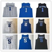 c78ccc15d27 Mens 5 R.J. RJ Barrett 1 Zion Williamson 2 Cameron Reddish College Basketball  Jersey US Size
