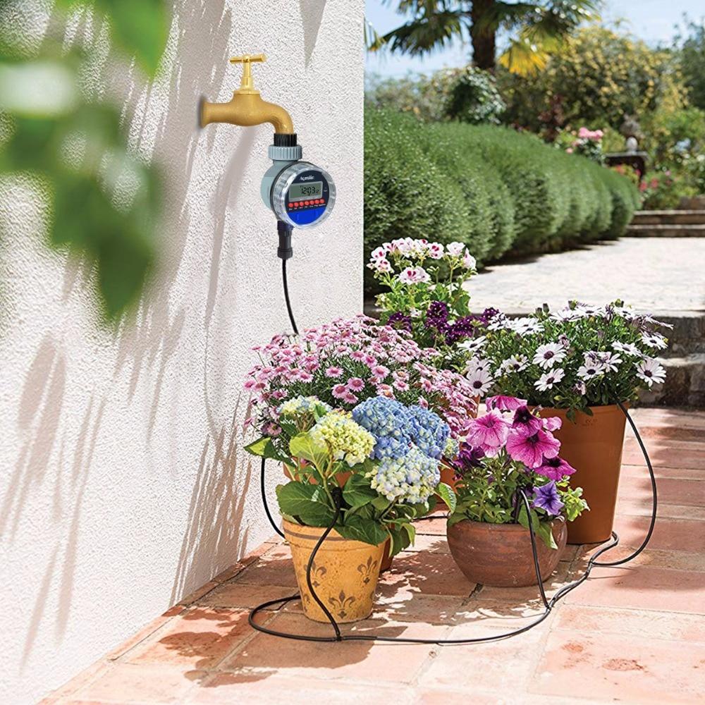 Автоматический ЖК-дисплей таймер полива электронный домашний сад шаровой клапан воды таймер для сада орошения контроллер #21026
