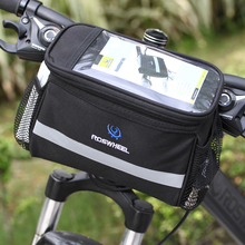 Black Bicycle Cycling Bag Front Removable Heat Protection Foldable Bike Handlebar Bags For font b Phone