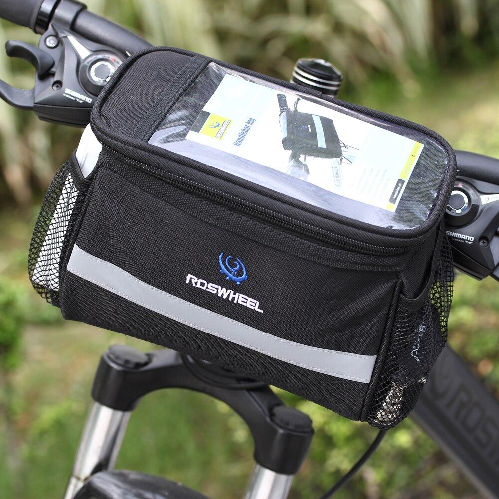 Schwarz Fahrrad Radfahren Bag Front Abnehmbare Wärme Schutz Faltbare Fahrrad Lenker Taschen Für Telefon Flasche Fahrrad Zubehör