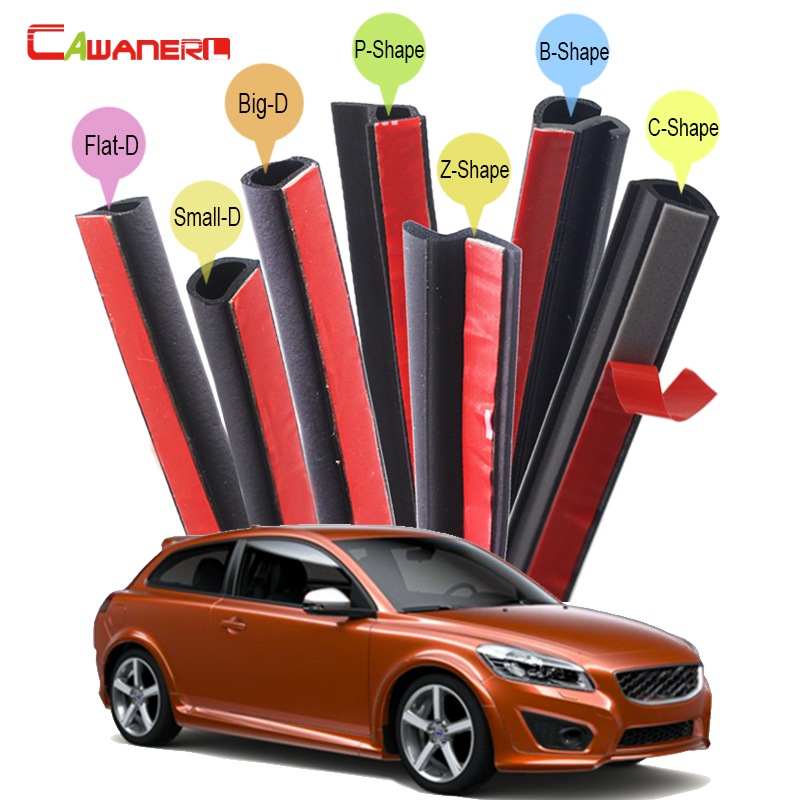 Cawanerl Car 4-Door Trunk Hood Rubber Sealing Strip Kit Seal Edging Trim Weatherstrip For Volvo 760 850 940 960 C30