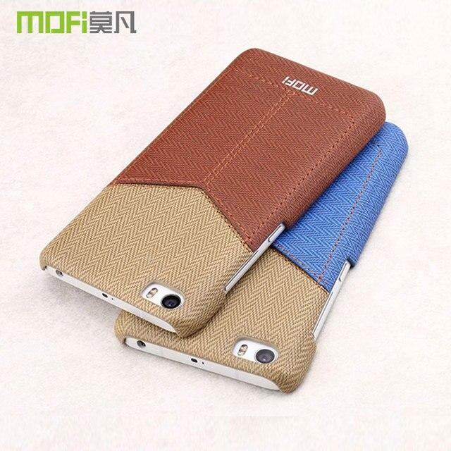 MOFI 원래 Mi5 케이스 카드 포켓 테크 Mi5 프로 하드 다시 커버 샤오 미 5 가죽 지갑 케이스 coque 카파 펀다 5.15''