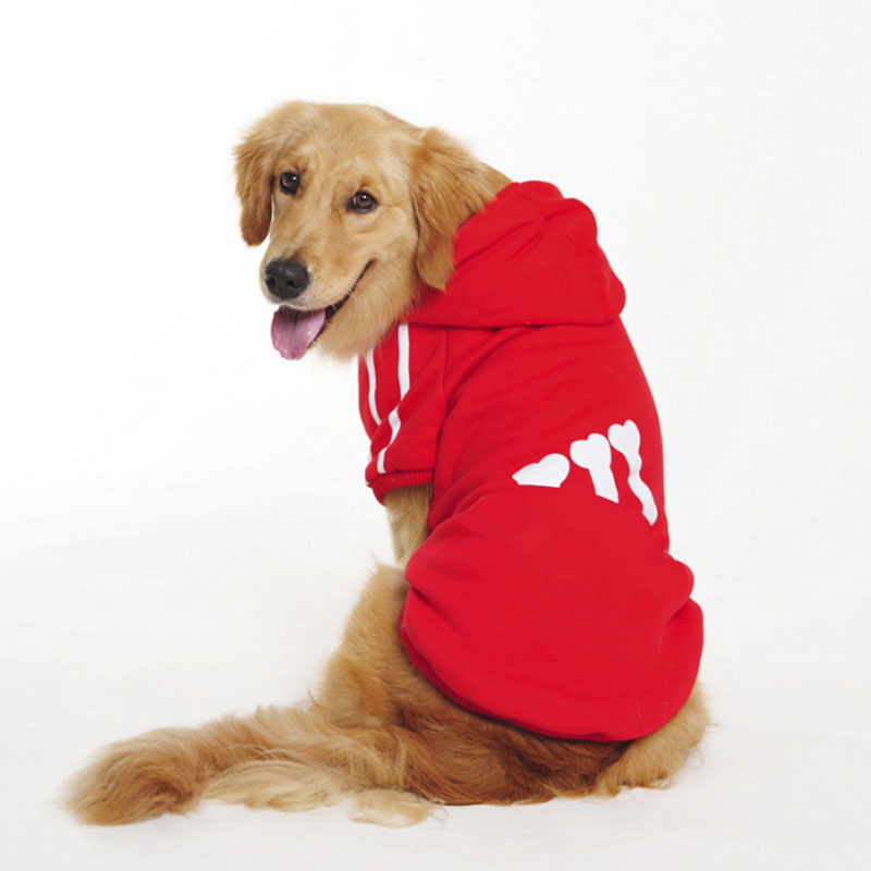Plus Size Large Dog Clothes Spring Warm Soft Dog Coat Jacket Big Dog Clothing Sports Hoo ...
