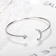 Punk Retro Charm Star Moon Bracelet Curved Female Version Wind Crystal Elasticity Bracelet  Moon Curved Mouth Bracelet Female цена