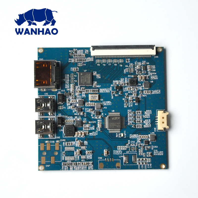 Wanhao 3D Printer Parts For D7, D7-LCD Driving board For Wanhao Duplicator 7 3d printer d7 v1 4 from wanhao factory lcd sla dlp printer for dentist and jewelry wifi box
