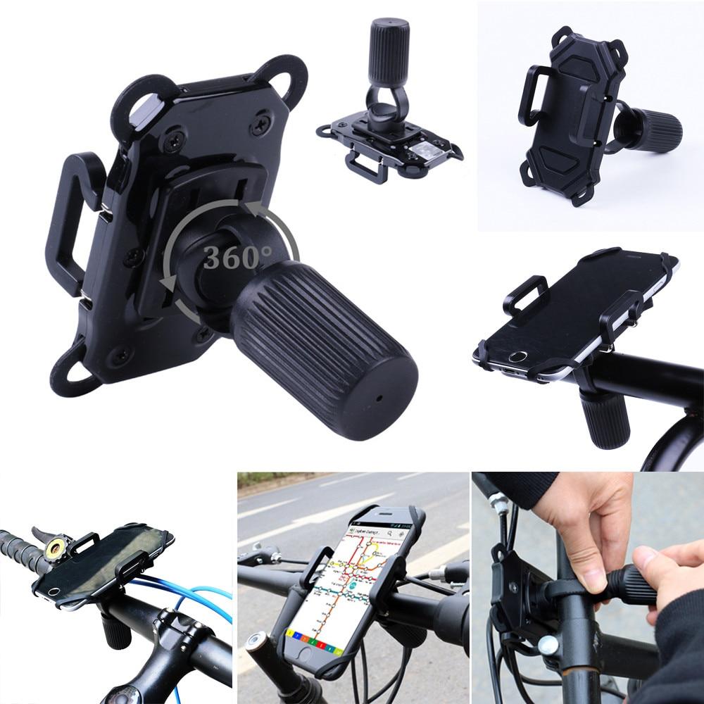 HOMPO 360° Handlebar Silicone Bracket Stand Bike Phone Holder Bicycle Motorcycle