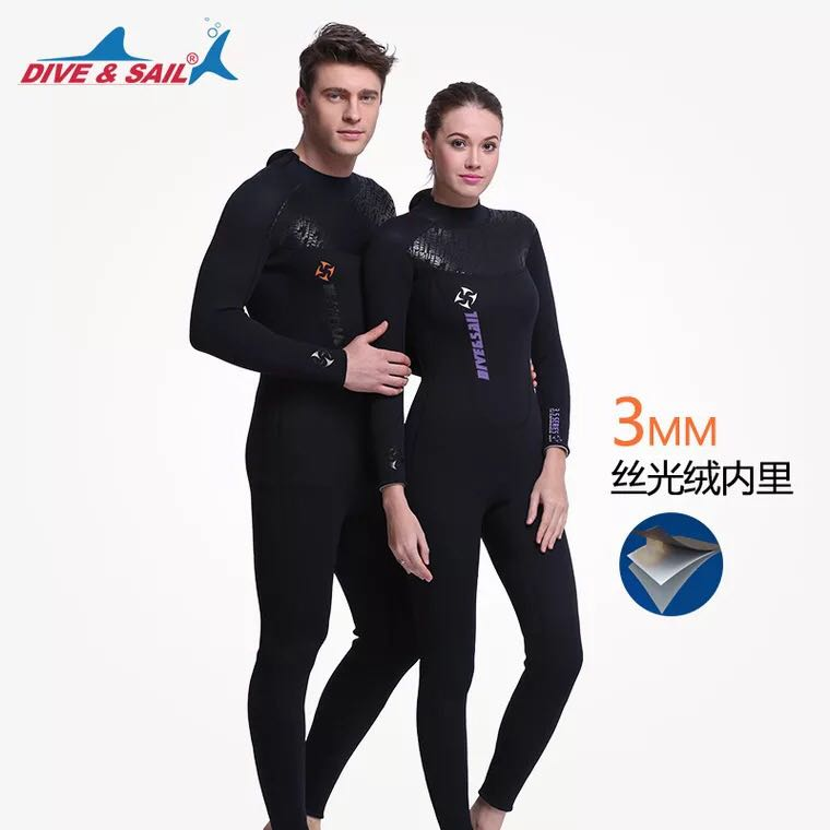 3MM Neoprene Wetsuit Men Diving Suit For Women Surfing Swimsuit Wet Suit For Swimming Suit Long Sleeve Surf Full Suit 2016 new styles summer diving wetsuit for men father day s gift summer surfing costumes fine embossed wetsuit a1616