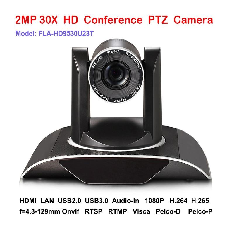 2MP 30x 1080P60fps IP HDMI USB PTZ Camera Conference Video Audio Network RTSP RTMP ONVIF Plug and Play 2mp hdmi full hd broadcast 12x zoom ptz video conference camera audio with ip usb2 0 usb3 0 interface