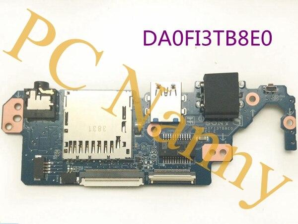 DA0FI3TB8E0 A-1999-671-A For Sony Vaio SVF15N17CXB I/O USB LAN Audio Board Card Reader