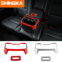 цена на SHINEKA Interior Mouldings for Jeep Wrangler JL Armrest Cup Holder Sticker for Jeep Wrangler 2018 Accessories