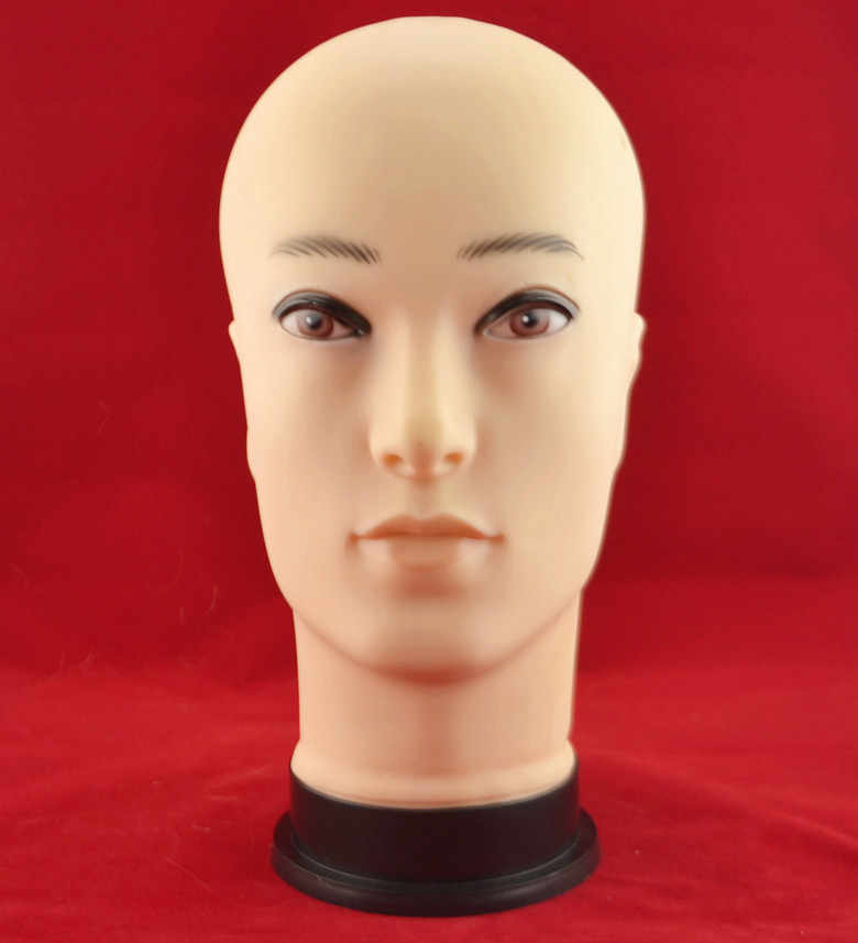Male head mannequin jewelry model glass displaying dummy man plastic head displaying head