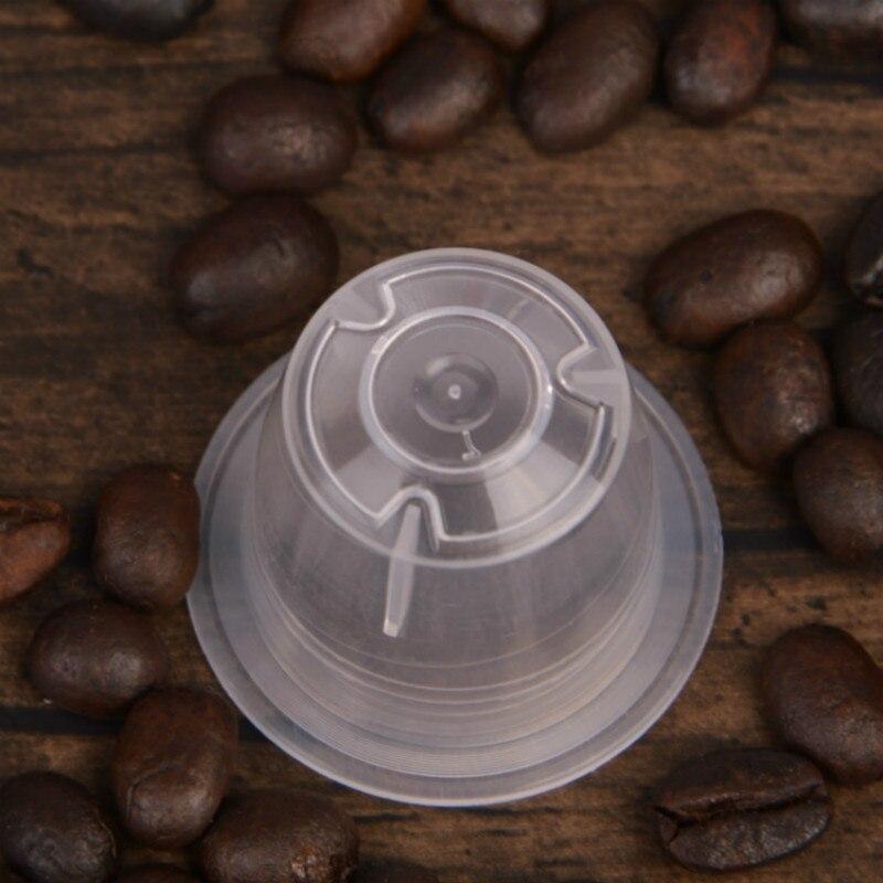 50pcs Coffee Capsule + 50pcs Espresso Lids Foil Seal Coffee Spoon Set for Nespresso Machine 3 Times Use / Cup