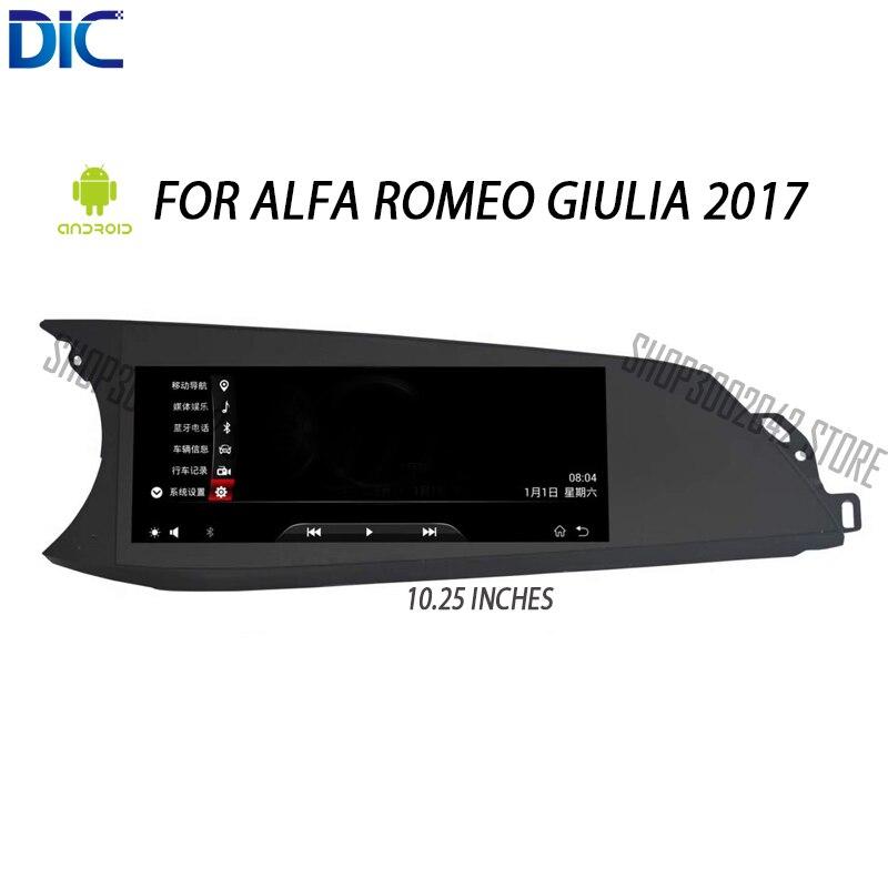 DLC Android système multifonction navigation lecteur GPS 10.25 pouces huit core système IPS lien miroir pour Alfa Romeo Giulia 2017