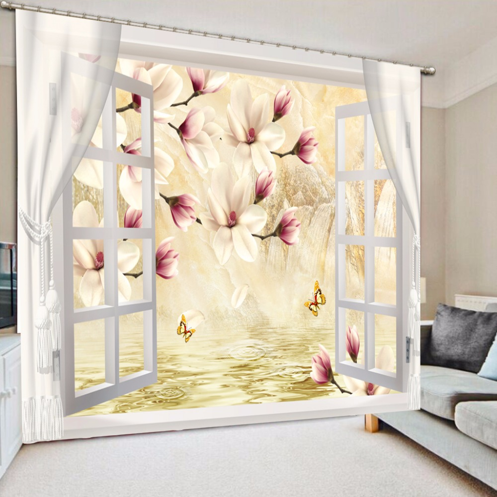 Top Classic 3d European Style Blackout Curtains For