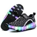 Tamanho 27-43 2017 nova criança roller shoes com rodas crianças shoes tênis para crianças das meninas dos meninos das mulheres dos homens shoes hot