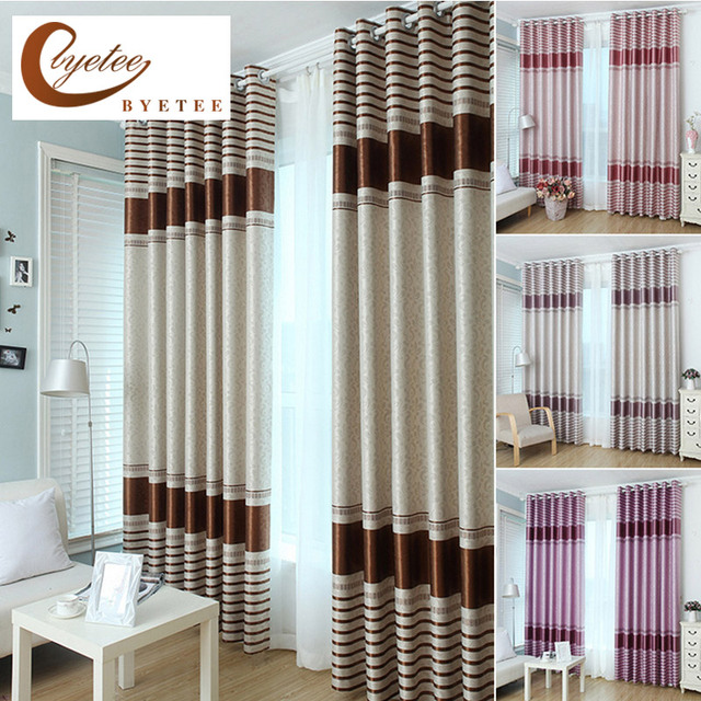 US $25.54 24% OFF|[byetee] Curtain Modern Window Coffee Sun Shading Fabric  Curtain Window Blackout Kitchen Curtains Doors For Bedroom Living Room-in  ...