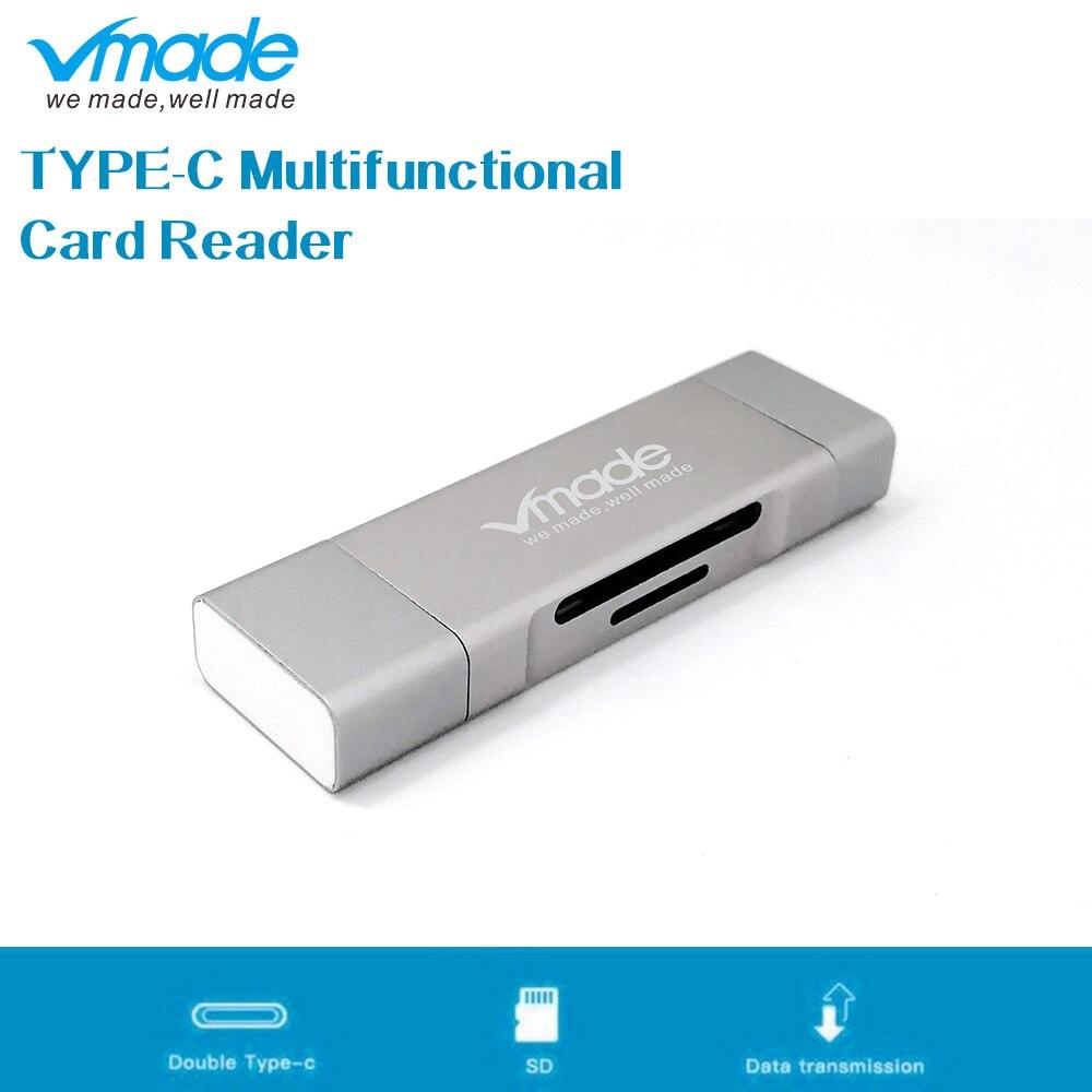 Vmade Type C USB C HUB Multi Function TF SD Card Reader Type C Micro USB 2.0/USB 3.0 Mini Adapter For Macbook/Macbook Pro/Xiaomi