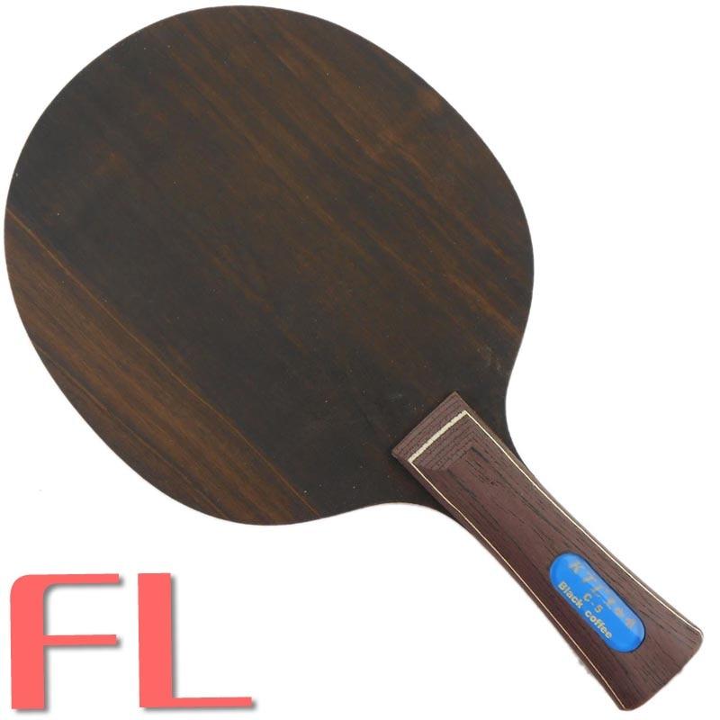 Ktl черное дерево 5 петлей C-5 черный кофейный столик теннис/пинг понг лезвие, Shakehand - Цвет: FL  long handle
