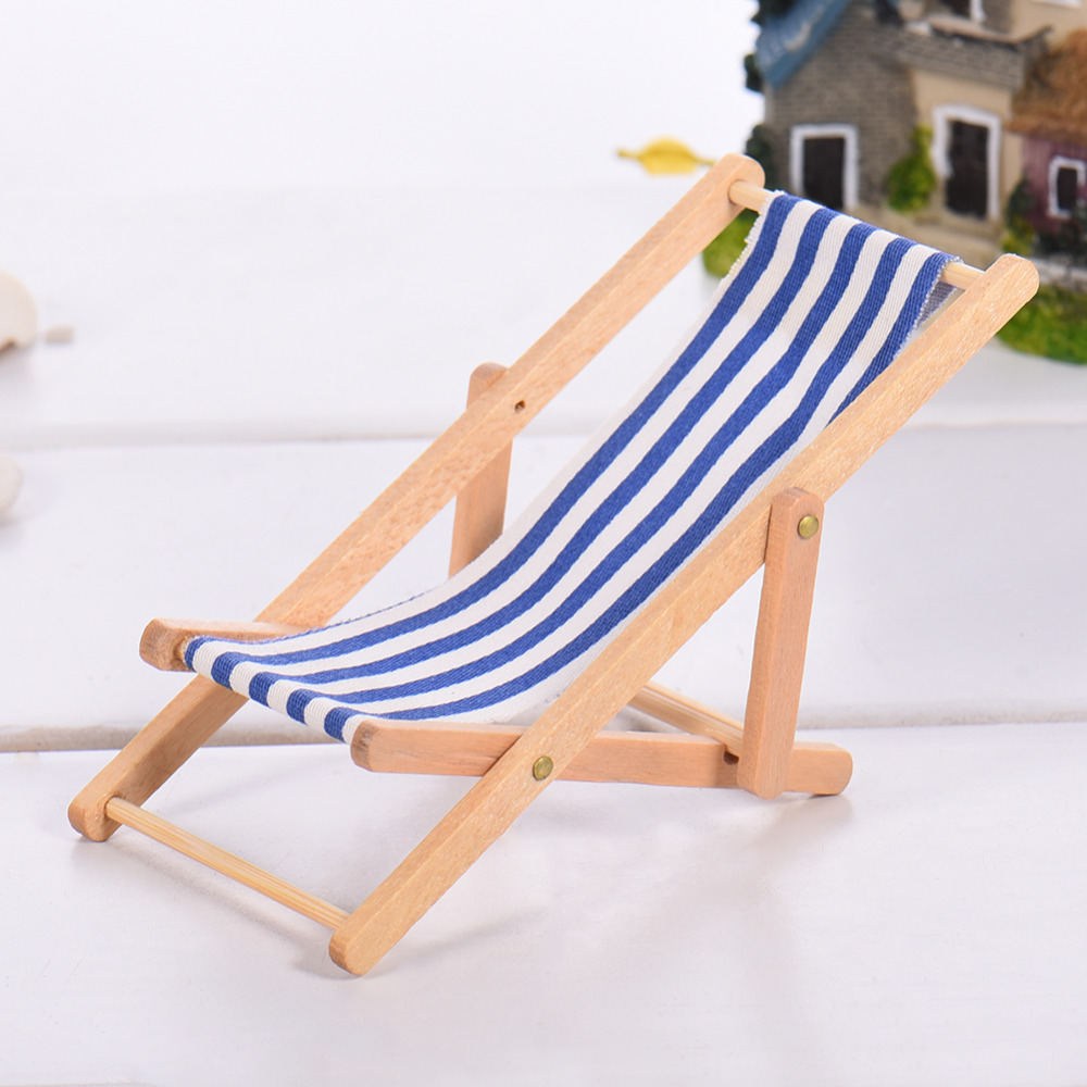 4 Colors Mini Doll House Accessories Home Furnishings Scene Furnishings Beach Chairs Emulational Furniture Home Furnishings