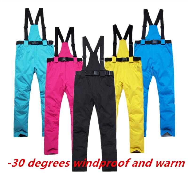 ARCTIC DELLA REGINA Delle Donne Pantaloni Da Sci Nuovo Sport Esterni di Alta Qualità Bretelle Dei Pantaloni Degli Uomini Antivento Impermeabile Caldo Inverno di Snowboard