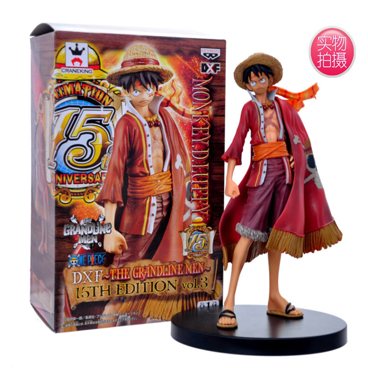 Sporting Anime One Piece Monkey D Luffy Figure Grandline Lady 15th Anniversary Pvc Action Figure Model Toy 17cm Action & Toy Figures