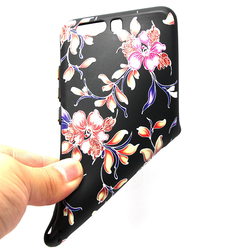 3D Relief flower silicone  case huawei p10 (30)