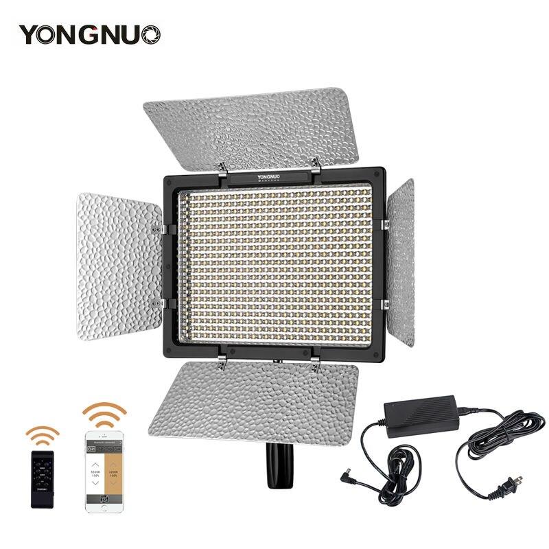 bilder für Yongnuo yn600 ii yn600l ii 5500 karat led-videoleuchte + falcon augen AC Adapter Set Unterstützung Fernbedienung per Telefon App für Interview