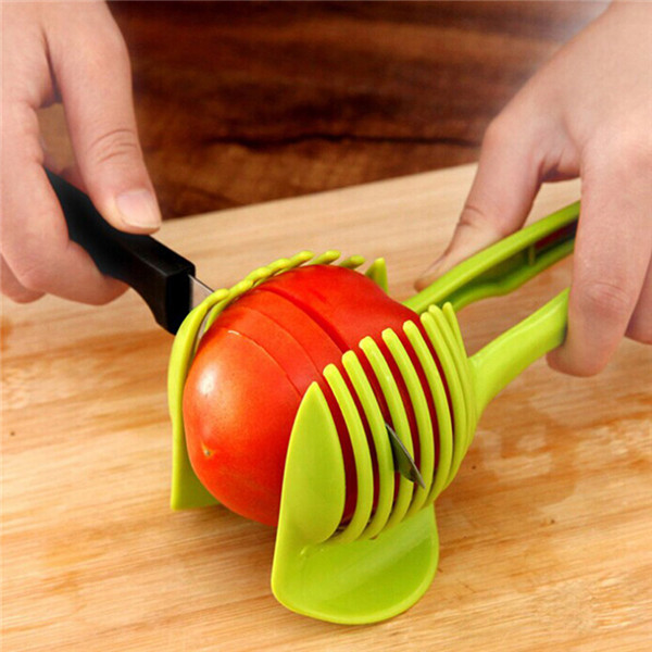 Tomato Slicer Clamp - Cut perfect slices without squashing it !