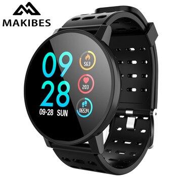 Makibes t3 스마트 시계 방수 활동 피트니스 트래커 hr 혈액 산소 혈압 시계 남성 여성 smartwatch pk v11