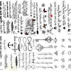 مثير ريشة الكلمات الأسود رسالة المؤقتة الوشم فتاة إصبع الجسم الذراع الفن رسومات الوشم ملصق الرجال ماكياج اليد الوشم الأطفال