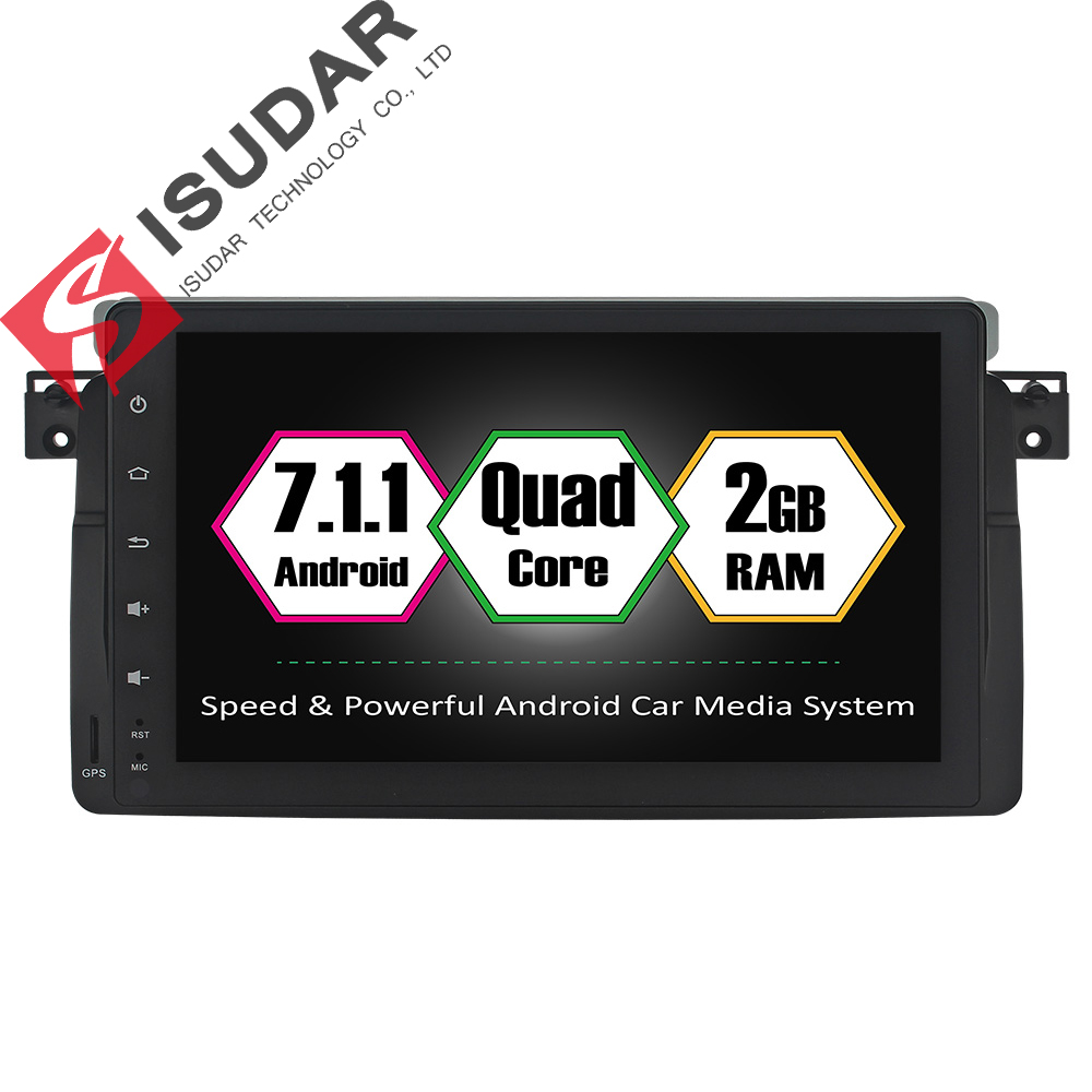 Isudar Car Multimedia Player Car Radio GPS Android 7 1 1 2 Din OBD2 Bluetooth For