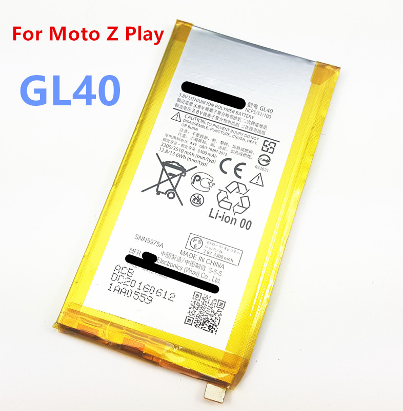 3300mAh Battery GL40 replacement For Motorola <font><b>Moto</b></font> <font><b>Z</b></font> <font><b>Play</b></font> <font><b>XT1635</b></font>-01 <font><b>XT1635</b></font>-<font><b>02</b></font> <font><b>Moto</b></font> <font><b>Z</b></font> <font><b>Play</b></font> Droid <font><b>XT1635</b></font> <font><b>XT1635</b></font>-03 GL 40 Batteries image