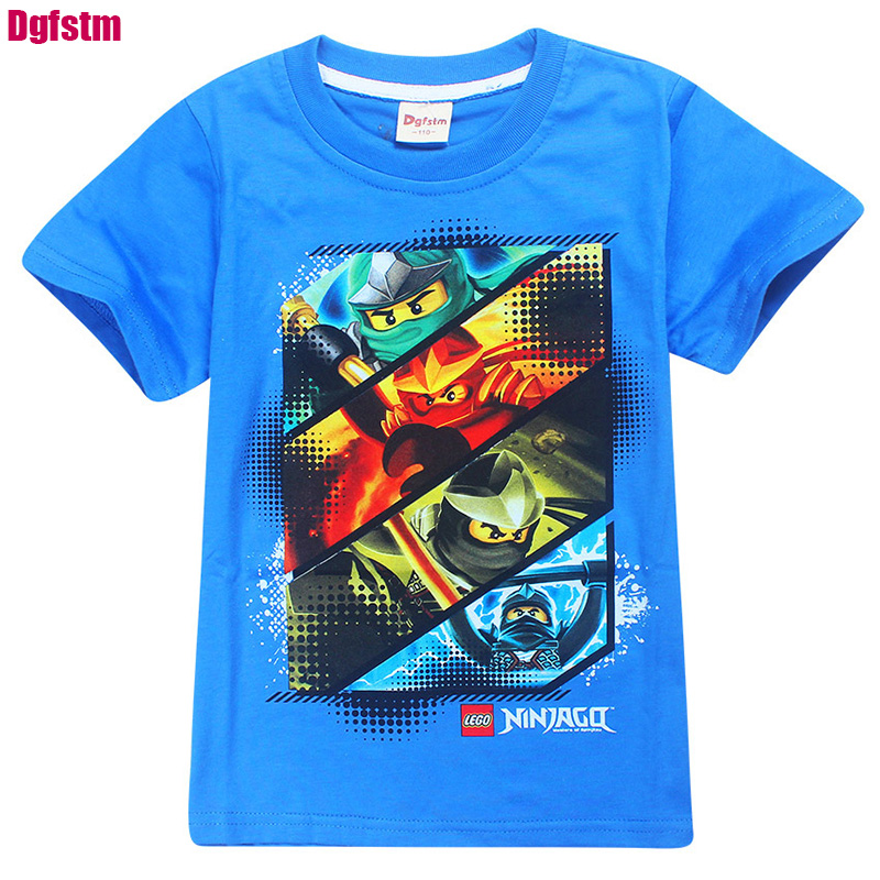 2017 Robot Tobot T-shirt For Boys Kids Summer Ninjago Clothing Cartoon character Printed boy Tops T Shirts Transformer Costumes цена и фото