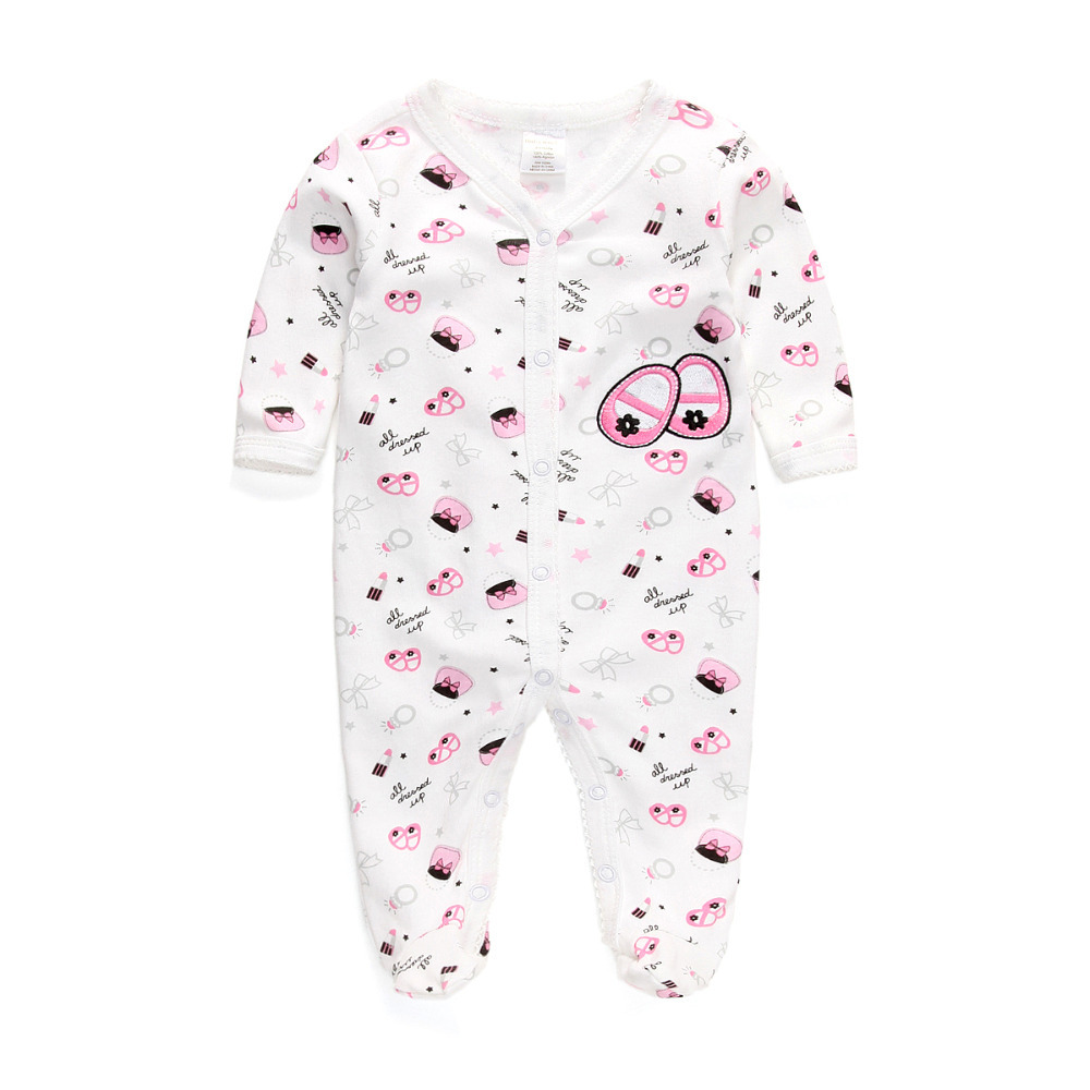 Free Shipping Baby Rompers Foot Cover Baby Girl's Pajamas Romper ...