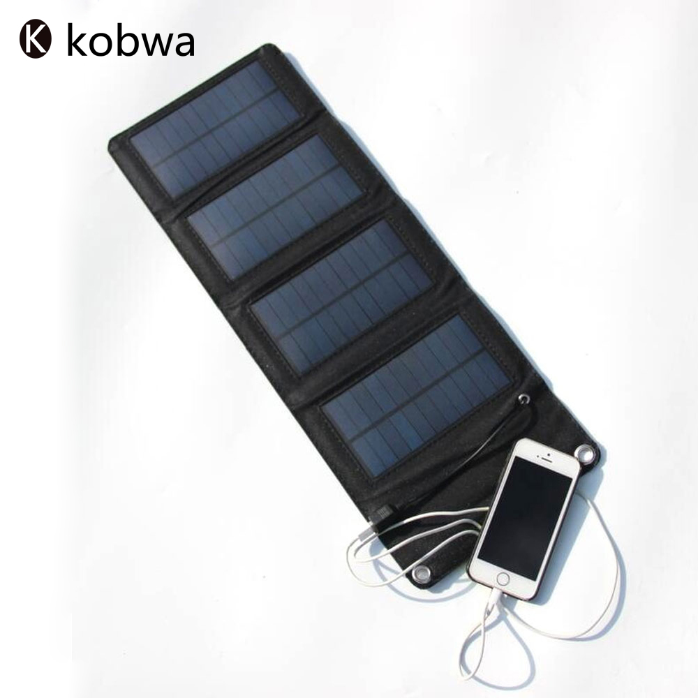 portable folding 7w solar charger panel camping usb output. Black Bedroom Furniture Sets. Home Design Ideas