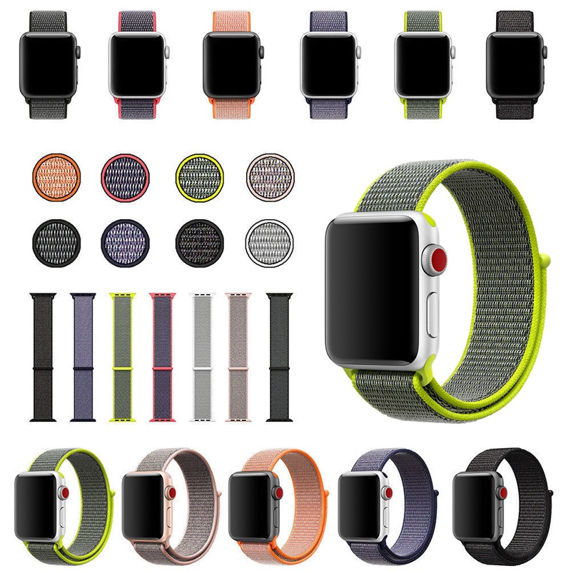 JKER 42MM 38MM Woven Nylon Loop Strap Band for Apple Watch 3 Wrist Bracelet Belt Fabric Nylon Band for iwatch 3/2/1 цены