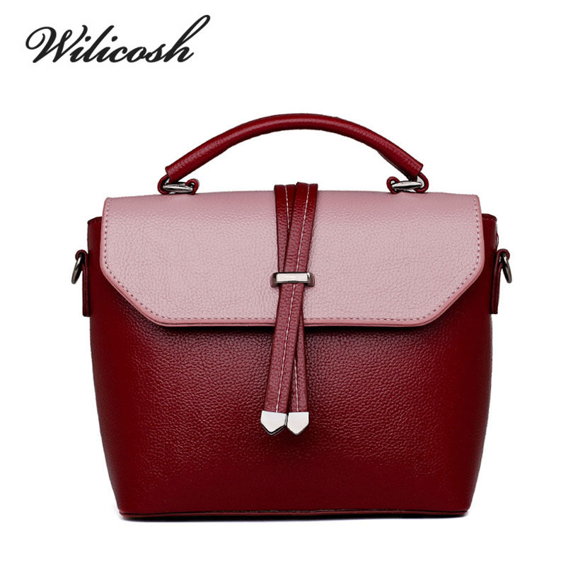 Wilicosh New Summer Women PU Leather Handbag High Quality Small Lady Messenger B