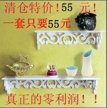 Cheap wooden clapboard wall shelf decorative wall shelf wall shelf decorative frame hollow wall sets creative frame