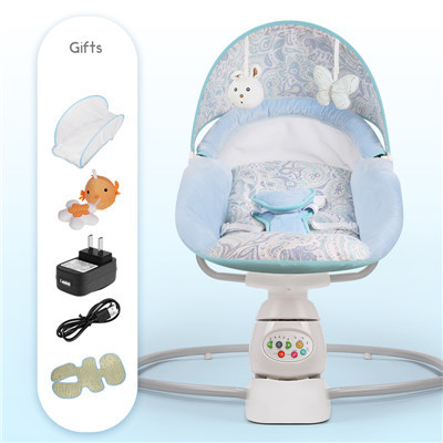 Baby Rocking Chair Baby Electric Cradle  Rocking Chair Deck Chair Pacify Baby's Magic Device Sleep The Newborn Cradle chair 4