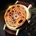 Yazole esqueleto reloj de los hombres 2017 top famosa marca de lujo hombre reloj de cuarzo reloj de hombre de pulsera de cuarzo reloj relogio masculino hodinky