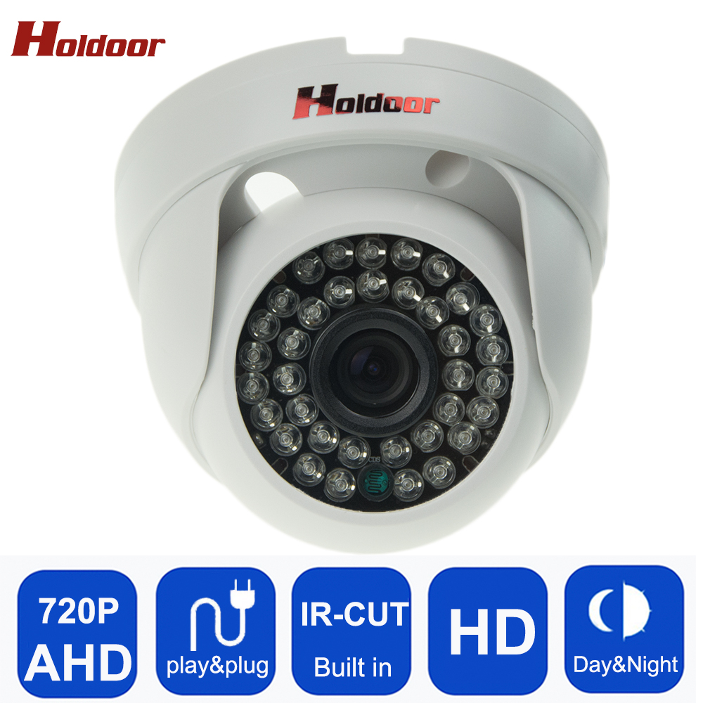 Security Surveillance Dome Camera AHD 720P FULL HD 1.0MP  IR-Cut Night vision Camera Cctv Security System home cam Free Shipping hd 1200tvl cmos ir camera dome infrared plastic indoor ir dome cctv camera night vision ir cut analog camera security video cam
