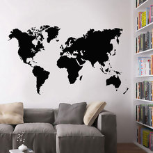 Large World Map Vinyl Wall Decal National Geographic Of The Sticker Art Home Decor For Living Room Office Poster 3214