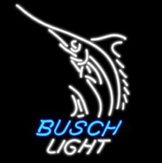Barre de bière de signe de lumière au néon en verre de Busch faite sur commande