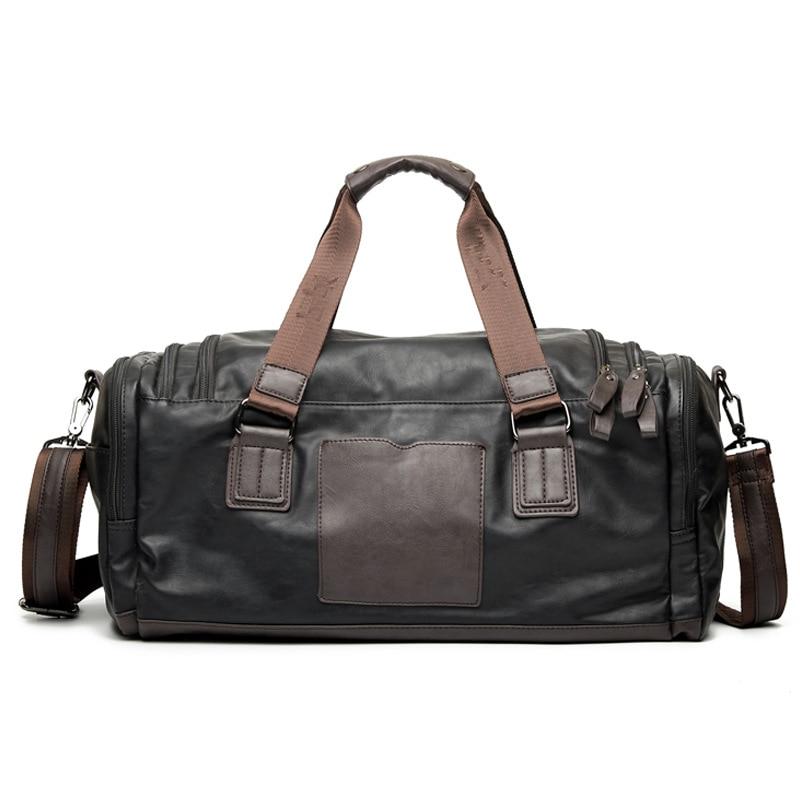 Men's Handbags Pu Leather Large Capacity Travel Bags Mens Large Messenger Laptop Bag Business Computer Briefcase Large Bags