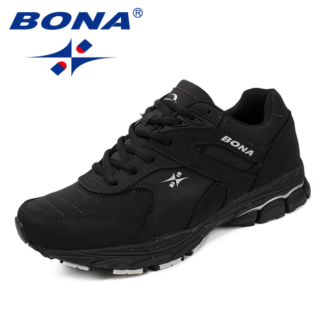 BONA новый классический стиль мужские кроссовки на шнуровке мужская спортивная обувь уличные беговые кроссовки удобные легкие Бесплатная доставка