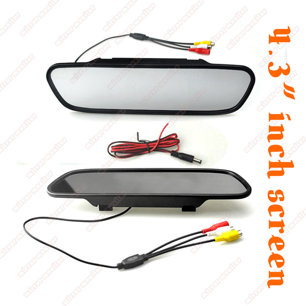 hot new HD <font><b>4.3</b></font> <font><b>inch</b></font> TFT LCD Car Rearview Mirror <font><b>Monitor</b></font> Car Reverse <font><b>Monitor</b></font> Screen 16:9 Color image