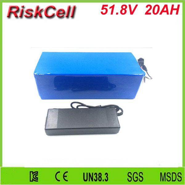 Free Customs taxes DIY 14S4P 51.8V battery pack 52V 20Ah 26650 customized lithium ion battery packs with 30A bms and charger free customs taxes rechargeable lithium battery 48v 12ah lithium ion battery 48v 12ah li ion battery pack 2a charger 20a bms